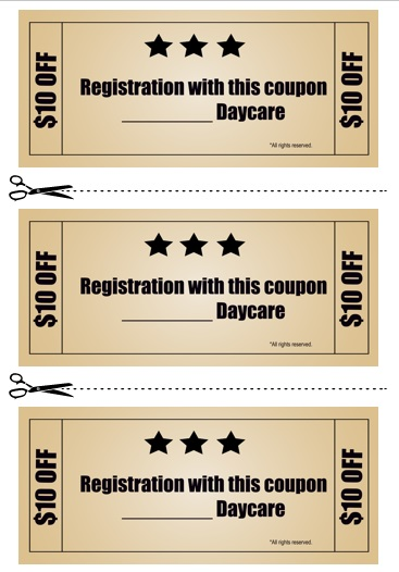 Babysitting Coupon Book Template 17