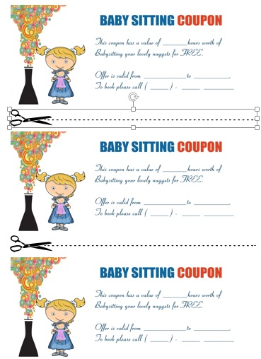 Babysitting Coupon Template | 20 Free Printable Babysitting Coupon Book Templates Babysitting