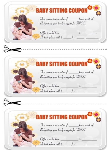 Babysitting Coupon Template Word  Furniture Deals Black Friday