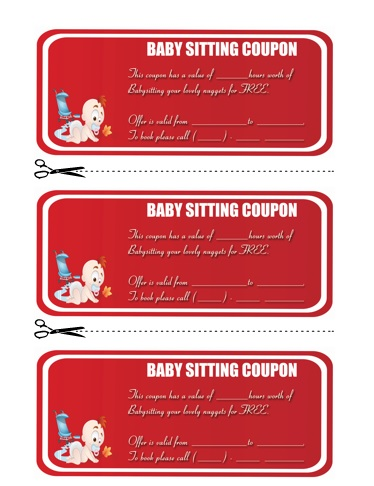 Babysitting Coupon Book Template 4