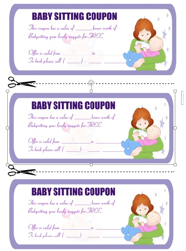 Babysitting Coupon Book Template 8