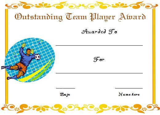 Soccer Award Certificate Template 11