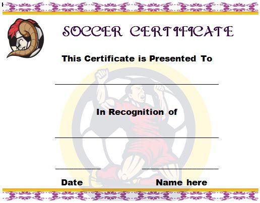 Soccer Award Certificate Template 12