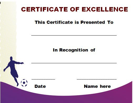 Soccer Award Certificate Template 15