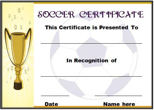 Soccer Award Certificate Template 17