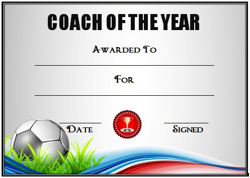 Soccer Award Certificate Template 18