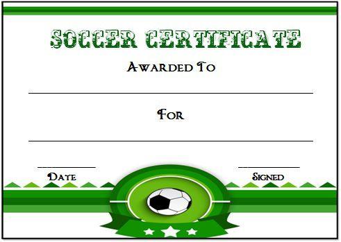 Soccer Award Certificate Template 19
