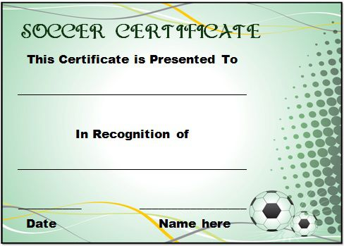 Soccer Award Certificate Template 21