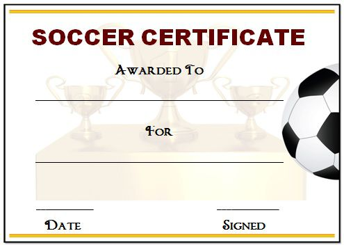 picture regarding Printable Soccer Certificates called football certification awards -