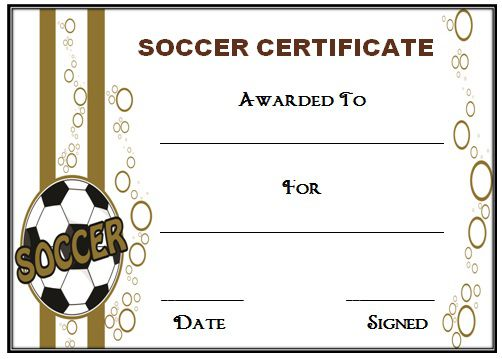 All About 30 Soccer Award Certificate Templates Free To Download