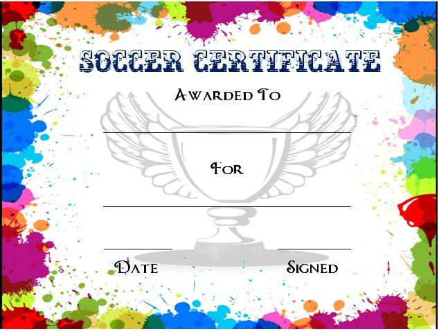 soccer award certificate template 3 - Soccer Award Certificate Templates Free