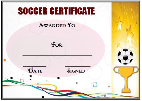 Soccer Award Certificate Template 30
