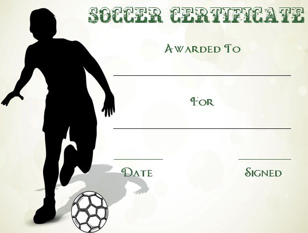 Soccer Award Certificates  BesikEightyCo