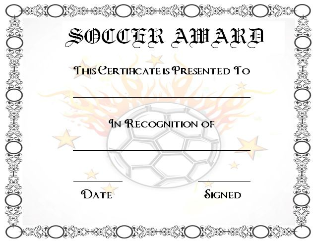 30 Soccer Award Certificate Templates Free To Download Print