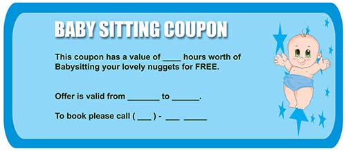 Babysitting Coupon Template | 20 Free Babysitting Coupon Templates To Skyrocket Your Child Care