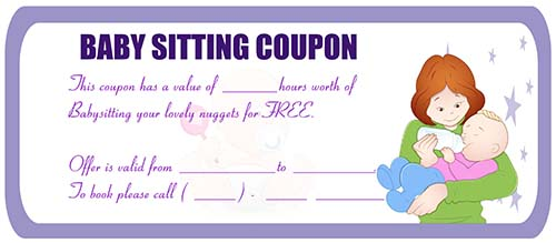 picture about Printable Babysitting Coupon titled Babysitting coupon printable - Wicked ticketmaster coupon code
