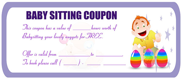 graphic regarding Printable Babysitting Coupon referred to as 10 Humorous Babysitting coupon codes in the direction of encourage your daycare support
