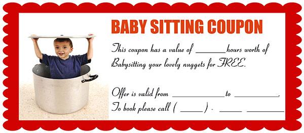 Funny Babysitting Coupon 2
