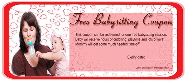 Funny Babysitting Coupon 5