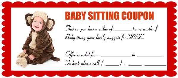 Funny Babysitting Coupon 7