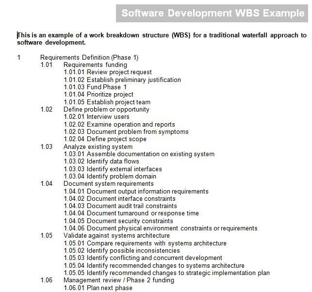 22 Professional Work Breakdown Structure Templates in Word, Excel