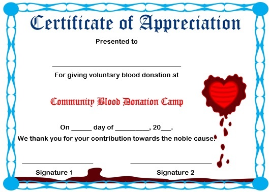 10 elegant certificate of appreciation for donation templates free certificate of appreciation for blood donation certificateofappreciationdonation2 yelopaper Choice Image
