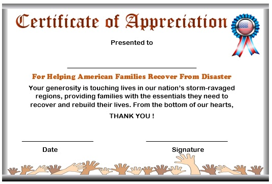 10 elegant certificate of appreciation for donation templates free certificate of appreciation for donation to natural disaster recovery certificateofappreciationdonation6 yadclub Gallery