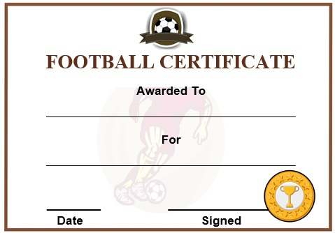 30 free printable football certificate templates awesome for Soccer award certificate templates free