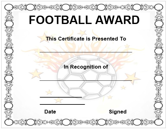 Football Award Certificates Idealstalist
