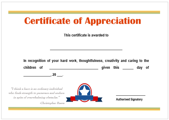 11 printable certificates of appreciation for teachers best
