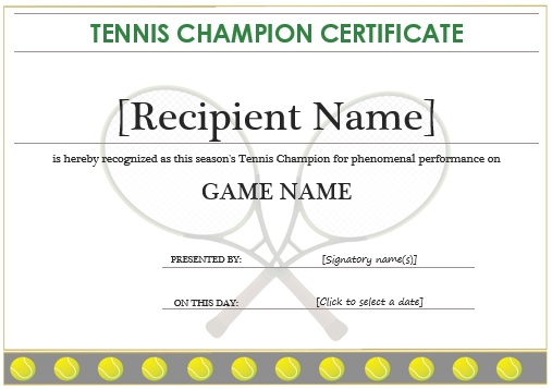 25 free tennis certificate templates download customize print 25 free tennis certificate templates download customize print for free yelopaper Images