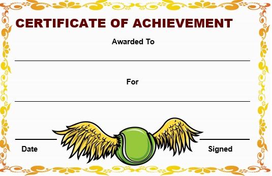 baseball certificate template for achievement