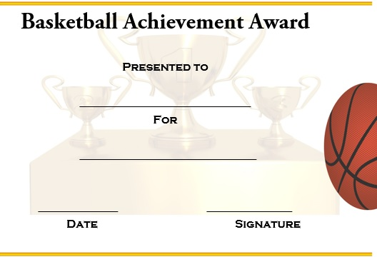 27 Professional Basketball Certificate Templates Free Printable – Award Templates Free Word