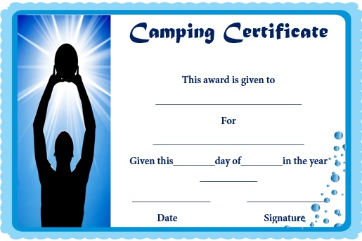 basketball camp certificate template