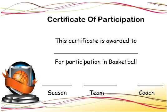 27 Professional Basketball Certificate Templates Free Printable – Army Certificate of Training Template