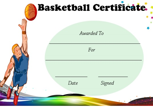 27 Professional Basketball Certificate Templates Free Printable – Basketball Certificate Template