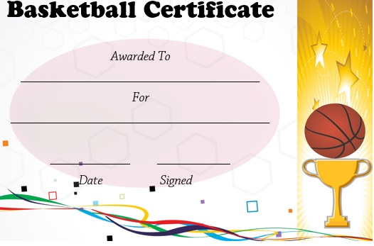 27 professional basketball certificate templates free printable word documents demplates