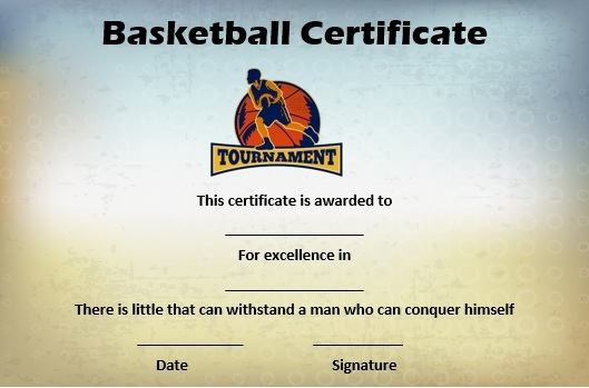 basketball mythical 5 certificate
