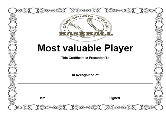 printable certificate templates 20 attention grabbing free printable baseball 24060