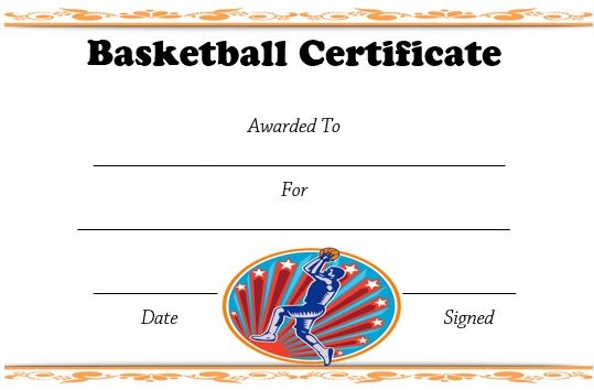 27 Professional Basketball Certificate Templates Free Printable