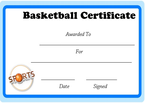 microsoft word basketball certificate template