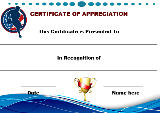 Rugby Certificate of Appreciation Template