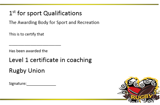 Rugby Coaching Level 1 Certificate
