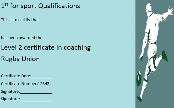 Rugby League Coaching Certificate