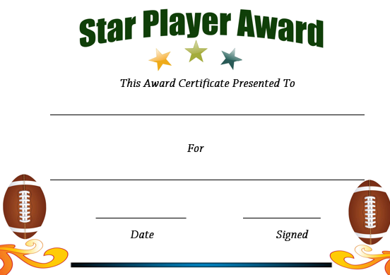 Rugby Star Player Award