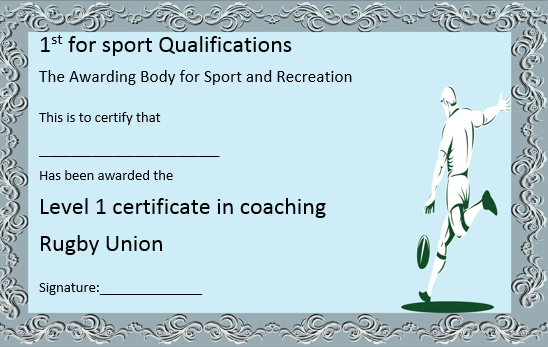 Rugby Union Coaching Certificate