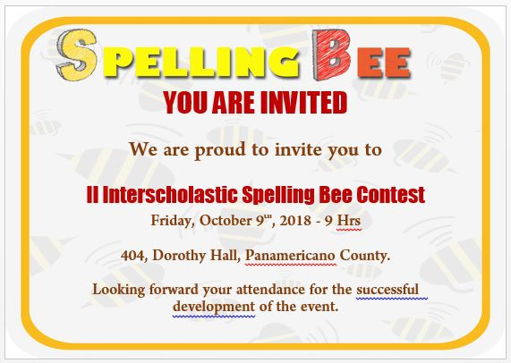 Spelling Bee Invitation Template 10