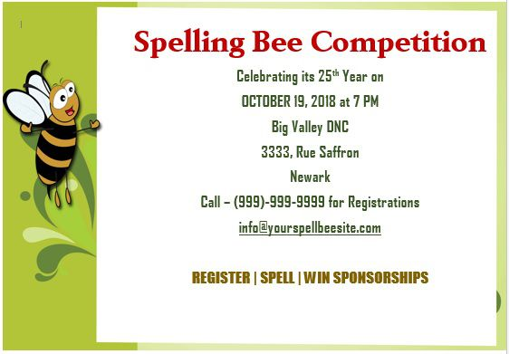 Spelling Bee Invitation Template 12