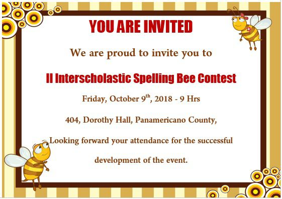 15 colorful spelling bee invitation templates free to With spelling bee invitation template