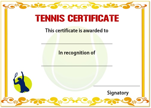 25 free tennis certificate templates download customize print 25 free tennis certificate templates download customize print for free demplates yelopaper Gallery